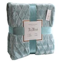 风几何刷花装饰毯纯色加厚秋冬保暖毛毯床单沙发毯毛绒毯子定制