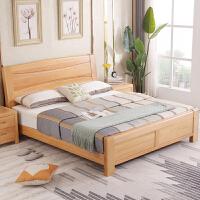 实木床双人原木1.8米1.5m主卧储物高箱床中式现代简约家具 +2个床头柜 1800mm*2000mm 气压结构