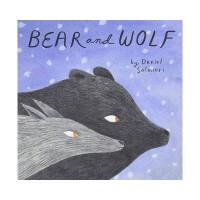 【预订】英文原版 Bear and Wolf 熊和狼 3-6岁低幼儿童艺术绘本 亲子互动图画故事书