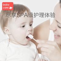 babycare婴儿口腔清洁器新生儿乳牙软毛牙刷幼儿宝宝洗舌苔纱布