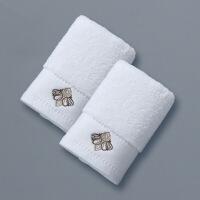 五星酒店纯棉洗脸家用方巾擦手巾小毛巾洗脸加厚一对定制