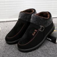 老北京冬季加绒软底妈妈棉鞋中老年保暖棉鞋