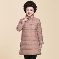 中老年女冬装加厚保暖外套中年中长款棉衣大码妈妈装秋冬羽绒