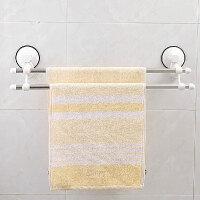 双庆1925家居 强力吸盘 浴室卫生间 双杆毛巾架 浴巾架子60CM