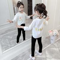 中大童女童洋气长袖卫衣2019秋季新款韩版儿童中长款打底衫
