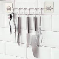 六连挂钩厨房免钉吸盘强力无痕壁挂承重防水粘钩吸盘创意免打孔