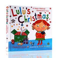 进口英文原版绘本 Lulu's Christmas 精装翻翻操作书 露露的圣诞节 Lulus系列 幼儿英语启蒙认知绘本