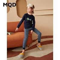 MQD童装男童家居服2020新款秋冬儿童睡衣套装舒适保暖睡衣中大童