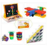 多元智能玩具组合 魔术画板+嘟嘟A积木+魔力方块+水果篮子