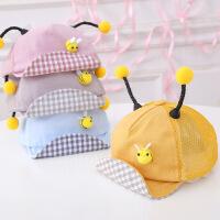 女童太阳帽男童婴儿鸭舌帽儿童帽子夏季薄款宝宝遮阳帽