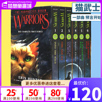 Warriors 猫武士 英文原版 Into the Wild 第一部曲 预言开始 6册全套装 The Complete First Series