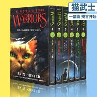 【全店满300减80】Warriors 猫武士 英文原版小说 青少年 10 15岁 Into the Wild 第一部曲 预言开始 6册全套装 The Complete First Series
