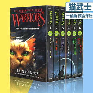Warriors 猫武士 英文原版小说 青少年 10 15岁 Into the Wild 第一部曲 预言开始 6册全套装 The Complete First Series
