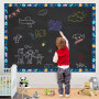 家用黑板贴白板贴可擦写儿童教学涂鸦绿板贴自粘可移除墙贴纸墙膜