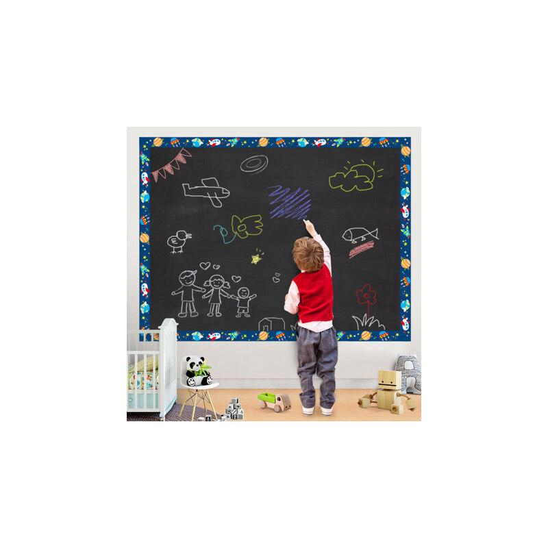 家用黑板贴白板贴可擦写儿童教学涂鸦绿板贴自粘可移除墙贴纸墙膜 材料加厚升级,膜纸厚度达18丝
