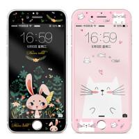 【包邮】MUNU 苹果iphone6s/6splus/6/6plus全屏钢化膜 卡通彩膜 苹果 iphone6 iph