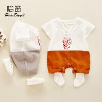 0-1岁婴儿衣服薄款婴儿服宝宝外出哈衣夏季婴儿宝宝包屁衣