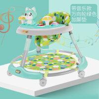婴儿学步车多功能防侧翻起步车女孩男宝宝6-8-12个月18男孩脚步车 +脚垫