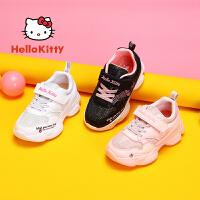 【4折价:99.6元】HelloKitty凯蒂猫童鞋新款女童运动鞋 春季学生跑步鞋小白鞋儿童休闲鞋K0513858