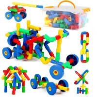 橙爱 五彩插管积木 塑料拼插管道式积木玩具 儿童益智拼搭水管道积木 儿童玩具