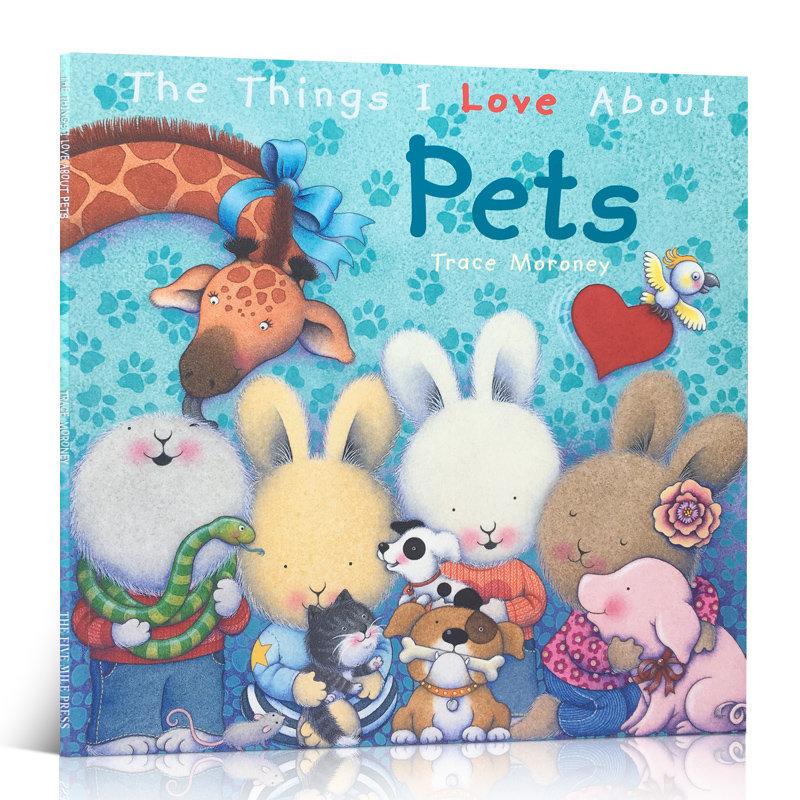 我喜欢的事系列 我爱小动物 情绪管理 3-6岁低幼儿童英语绘本图画书