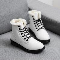2017秋冬季新款雪地靴女马丁短靴短筒平底棉鞋学生女鞋女