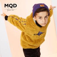 MQD童装儿童洋气连帽卫衣18冬幢新男童加厚加绒卫衣中大童