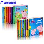 小猪佩奇 英文原版绘本书 Peppa Pig Little Library Fairy Tale Little Library 2盒12册 粉红猪小妹 小小手掌书