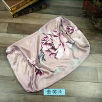 真丝印花枕套 单双面美容乳胶枕巾 蝶枕头套 尺寸定制定制
