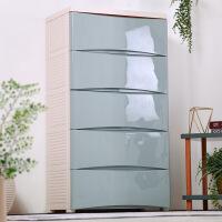 加厚宝宝简易衣柜收纳柜子塑料自由组合儿童衣服储物箱五斗柜