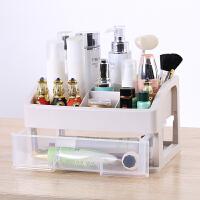 桌面收纳盒网红杂物透明抽屉式整理盒口红护肤化妆品梳妆台置物架