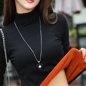保暖打底衫女加厚加绒长袖针织衣服韩版秋冬新款内搭高领毛衣