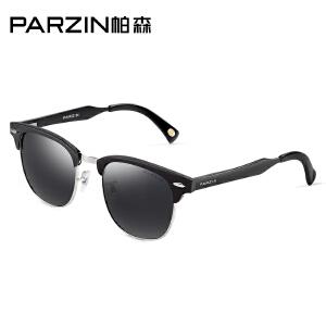 帕森女士偏光太阳镜 复古时尚半框太阳镜 男 驾驶墨镜 8029