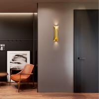 精美护眼时尚北欧过道壁灯卧室床头简约走廊创意铁艺现代客厅墙个性壁灯具精美时尚壁灯 直径13CM 高 图片色