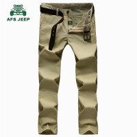 战地吉普AFS JEEP休闲裤男 男士直筒中腰长裤 春装男裤 商务免烫休闲裤