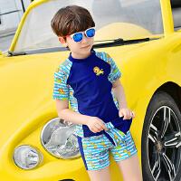 学生泳裤泳装儿童分体泳衣 男孩中小童男童宝宝泳衣套装