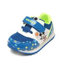 Daphne/达芙妮鞋柜童鞋 米奇男童舒底休闲鞋防滑魔术贴运动鞋男-tx