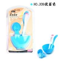 美容刷子和碗 韩版美容院四合一面膜碗面膜工具套装塑料化妆四件套DIY调膜碗hg1