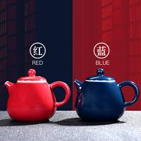 唐丰陶瓷泡茶壶花茶壶带盖过滤小泡茶壶全手工大容量家用大号单壶