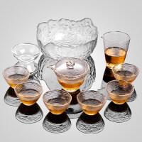 【新品热卖】 日式玻璃茶具套装家用功夫茶杯茶壶组合简约加厚耐热泡茶器