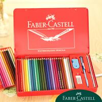 秘密花园 填色 德国辉柏嘉水溶性彩色铅笔 铁盒装赠笔刷