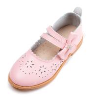 2019新款韩版女童皮鞋中小童公主鞋单鞋镂空童鞋女童皮鞋