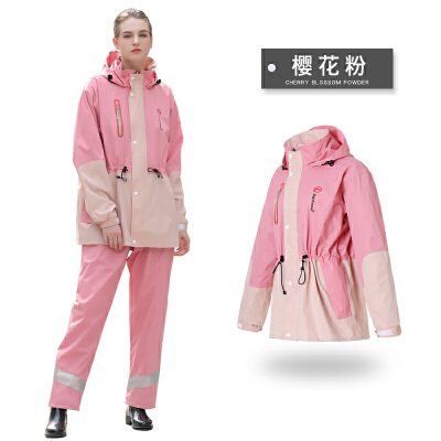 琴飞曼时尚潮雨衣雨裤套装防水男女户外摩托车电动车骑行雨衣  X