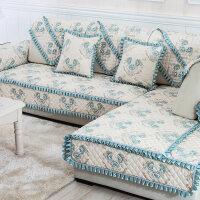 欧式沙发垫布艺四季通用简约现代全包全盖皮沙发套罩巾坐垫子