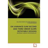 【预订】On Variance-Sum Second and Third Order Slope Rotatable