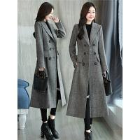 2018新款秋冬装韩版复古修身过长款羊大衣女外套