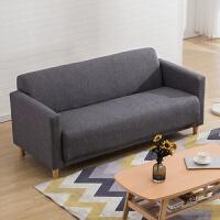 【品牌特惠】北欧布艺沙发小户型卧室公寓简约现代双人三人小沙发 深灰色 麻布