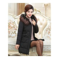 中年女装冬装40岁50中长款冬季新款羽绒棉外套妈妈装加厚棉衣