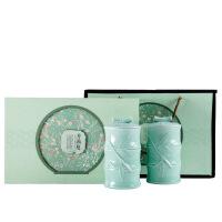 陶瓷茶叶罐礼盒 包装空信阳毛尖西湖龙井通用 绿茶空六安瓜片仙毫