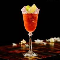 波西米亚水晶红酒杯特调鸡尾酒杯甜酒杯香槟杯梭形玻璃高脚杯
